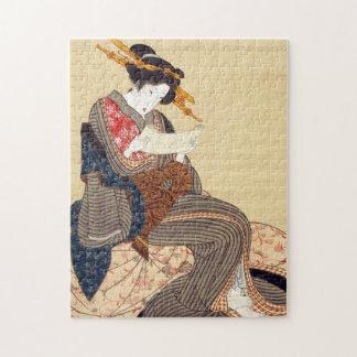 女, 国貞 Woman, Kunisada, Ukiyo-e Puzzle