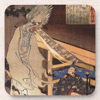 妖怪, zombi japonés del 国芳, Kuniyoshi, Ukiyo-e Posavasos De Bebida