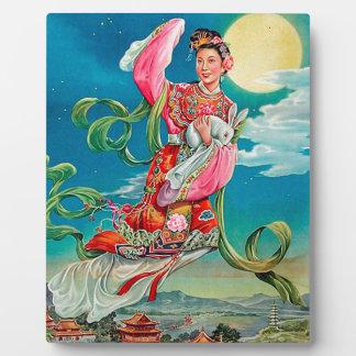 嫦娥 de Chang'e que vuela al festival del Mediados Placa