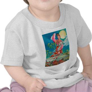 嫦娥 de Chang'e que vuela al festival del Mediados Camisetas
