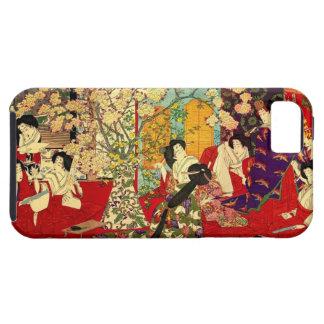 宦 woman cherry tree mat verse no figure iPhone SE/5/5s case