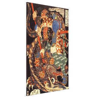 宮本武蔵 de Miyamoto Musashi del japonés del vintage Impresión En Lona Estirada