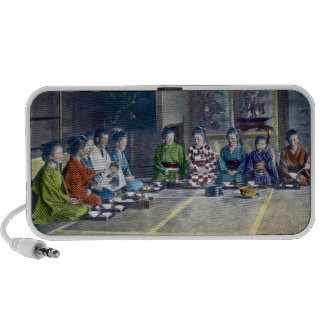 家族 teñido mano japonesa tradicional de la comida d notebook altavoz