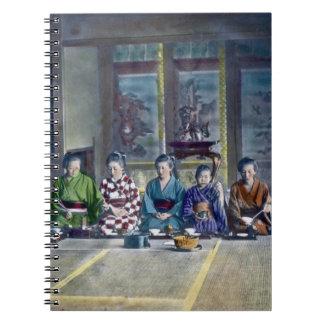 家族 teñido mano japonesa tradicional de la comida d cuaderno