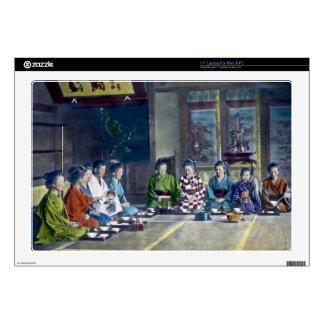 家族 teñido mano japonesa tradicional de la comida d portátil skins