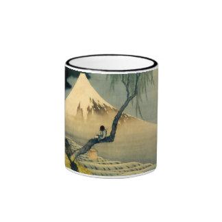 富士と少年, 北斎 el monte Fuji y muchacho, Hokusai, Ukiyo Tazas De Café