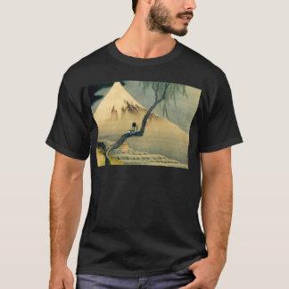 富士と少年, 北斎 Mount Fuji and Boy, Hokusai, Ukiyo-e T-Shirt