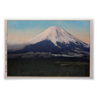 富士十景 吉田村 Ten views of Fuji, Yoshida vil.,Yoshida Poster