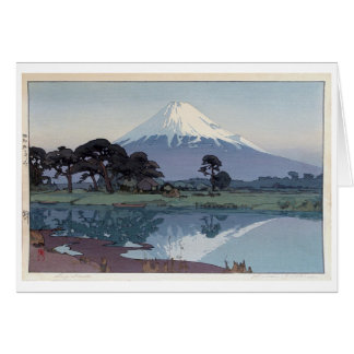 富士山 鈴川, Mt.Fuji, Suzukawa, Yoshida, Woodcut Card