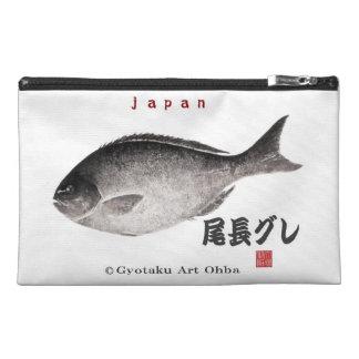 尾長グレ!JAPAN 魚拓 Gyotaku Travel Accessory Bag
