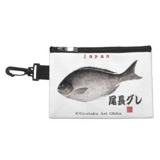尾長グレ!JAPAN 魚拓 Gyotaku Accessory Bag