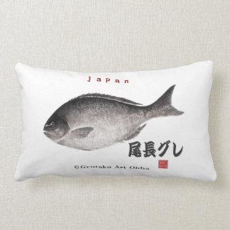 尾長グレ!JAPAN 魚拓 Gyotaku Pillow