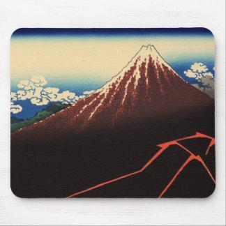山下白雨, 北斎 Thunder and Mount Fuji, Hokusai, Ukiyo-e Mouse Pad
