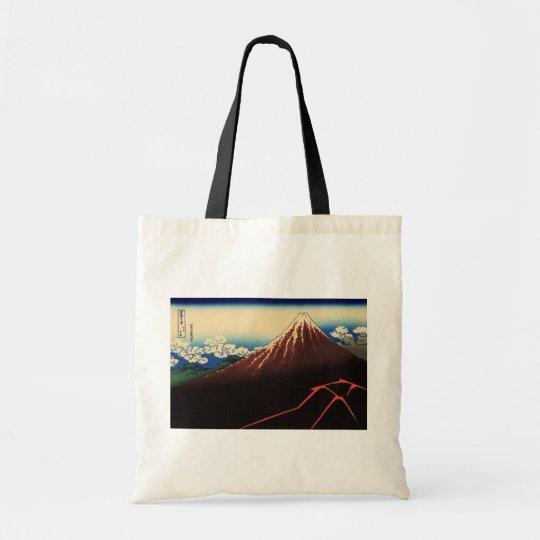 山下白雨, 北斎 Thunder and Mount Fuji, Hokusai, Ukiyo-e Tote Bag