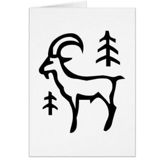 山羊座, Capricornus, constelación (zodiaco) Tarjeta De Felicitación