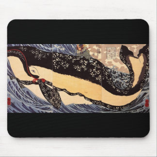 巨鯨, 国芳 Big Whale, Kuniyoshi, Ukiyoe Mouse Pad