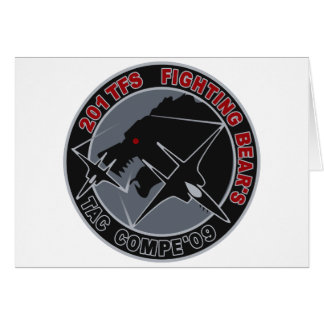 平成21年戦競第201飛行隊201TFSパッチ GREETING CARD