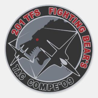 平成21年戦競第201飛行隊201TFSパッチ CLASSIC ROUND STICKER