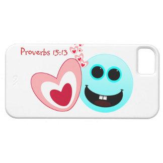 幸せなハート-諺の15:13 NIV iPhone SE/5/5s CASE