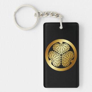 徳川 家紋, Tokugawa KAMON, Japanese Family Crest Double-Sided Rectangular Acrylic Keychain