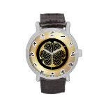 徳川 家紋, Tokugawa KAMON, Japanese Family Crest Wristwatch