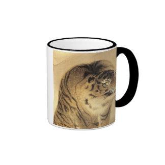 応挙 虎 tigre de Ōkyo del 応挙 Ōkyo Tazas
