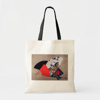 扇子, 北斎 Five Fans, Hokusai, Ukiyoe Tote Bag