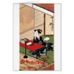 手紙を書く女, 春章 Woman Writing a Letter, Shunsho Greeting Cards