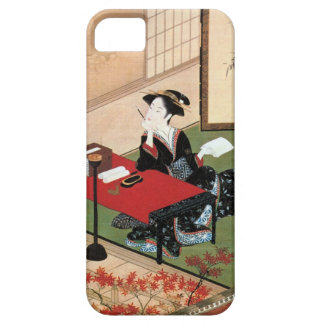 手紙を書く女, 春章 Woman Writing a Letter, Shunsho iPhone SE/5/5s Case