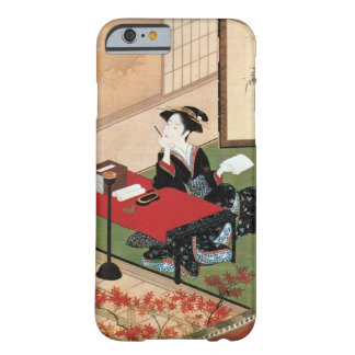 手紙を書く女, mujer del 春章 que escribe una letra, funda de iPhone 6 barely there