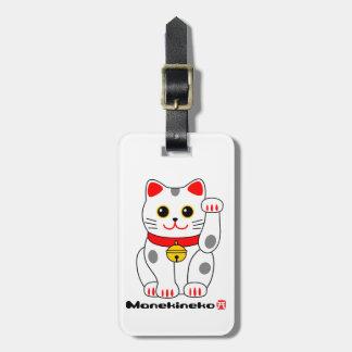 招き猫, Manekineko (gato afortunado, tentando el gato Etiqueta Para Maleta