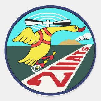 教育航空隊パッチ del 第 211 pegatina redonda
