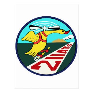 教育航空隊パッチ del 第 211 tarjetas postales