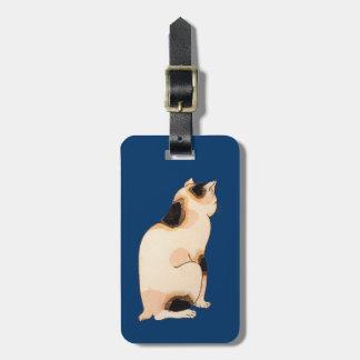 日本猫, 国芳 Japanese Cat, Kuniyoshi, Ukiyo-e Luggage Tag