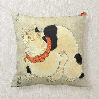 日本猫, 国芳 Japanese Cat, Kuniyoshi, Ukiyo-e Throw Pillow