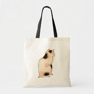 日本猫, gato japonés del 国芳, Kuniyoshi, Ukiyo-e Bolsa