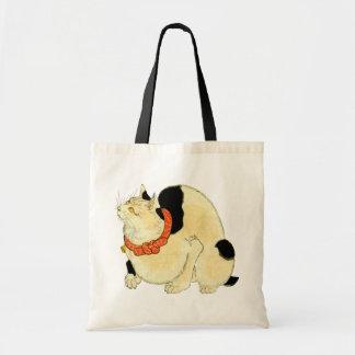 日本猫, gato japonés del 国芳, Kuniyoshi, Ukiyo-e Bolsa Tela Barata