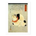 日本猫, gato japonés del 国芳, Kuniyoshi, Ukiyo-e Tarjetas Postales