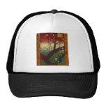 日本趣味:梅の花 (広重の模写) トラッカー帽子