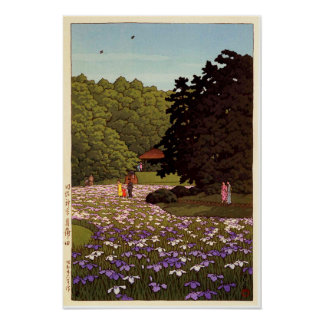 明治神宮菖蒲園, Iris Garden at Meiji Shrine, Hasui Kawase Poster