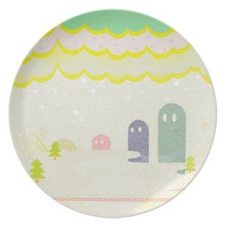 星の国の不思議な生物Delta01typeD かわいいお皿 fuji_plate