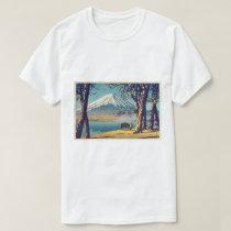 晩秋の富士山, Mt.Fuji in autumn, Hasui Kawase, Woodcut T-Shirt