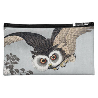 月とフクロウ, 古邨 Flying Owl & Moon, Koson, Ukiyo-e Cosmetic Bag