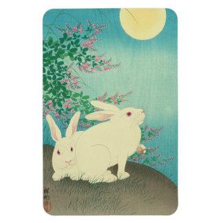 月と兎, 古邨 Rabbits & Moon, Koson, Ukiyo-e Magnet