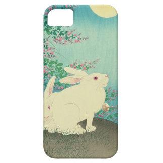 月と兎, conejos y luna, Koson, Ukiyo-e del 古邨 Funda Para iPhone SE/5/5s