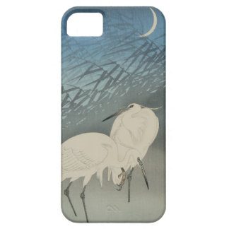 月と白鷺, 古邨 Egrets & Moon, Koson, Ukiyo-e iPhone SE/5/5s Case