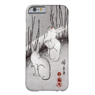 月に兎, luna y conejos, Hiroshige, Ukiyo-e del 広重 Funda De iPhone 6 Barely There