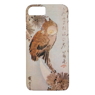月夜のみみずく, 広重 Moonlight Owl, Hiroshige, Ukiyo-e iPhone 7 Case