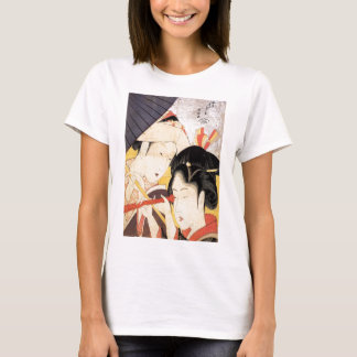 望遠鏡を覗く女, 北斎 Girl with Telescope, Hokusai, Ukiyo-e T-Shirt
