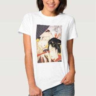 望遠鏡を覗く女, chica del 北斎 con el telescopio, Hokusai, Playeras